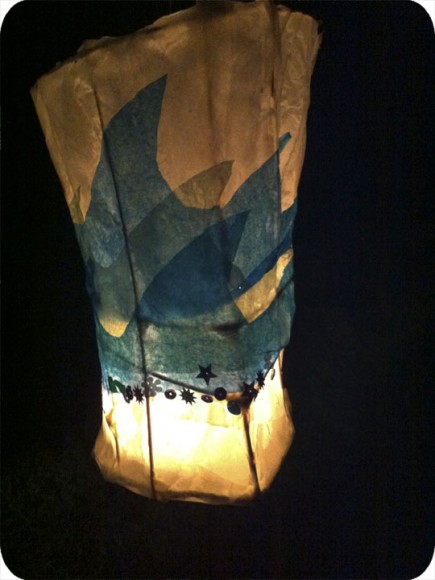 Paper Lantern, Waves, Small Pond Arts, Craft, Workshop