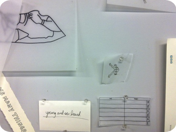 Olivia Cusack, Studio Space, Drawing, Text