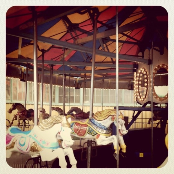 Fair, Carousel, Rides, County Fair, Picton, Ontario, Horses