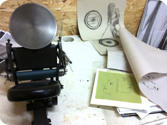 Vanessa Dion Fletcher, Printmaking, Letterpress, Drawing