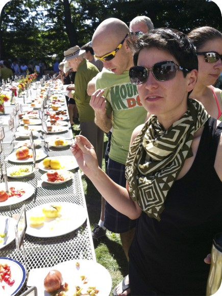 Vanessa Dion Feltcher, Vicki's Veggies, Heirloom Tomato Tasting, Prince Edward County, Organic Food