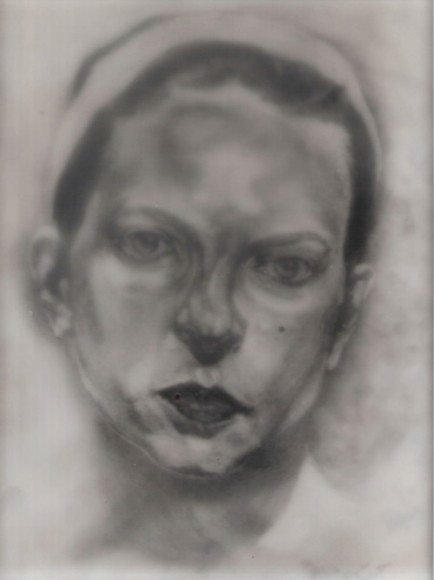Leah Gold, Portrait, Drawing, Artist in Residence, Black and White