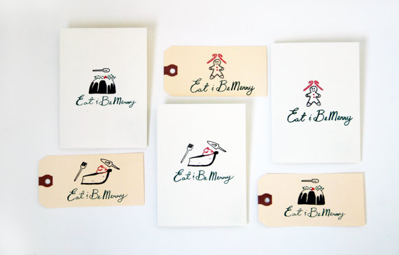 Christmas, Cards, Tags, Holiday, Print, Silkscreen