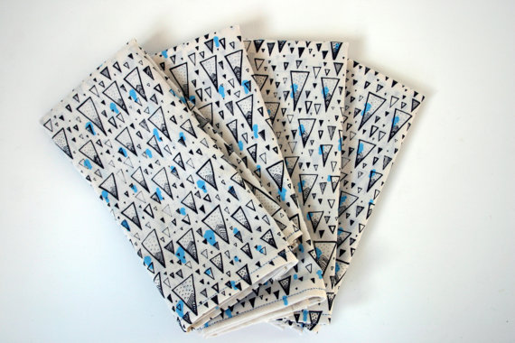 Cloth Napkin, Napkin Set, Cotton, Silkscreen, Mountain Patter, Handmade, Print, Spark Box 