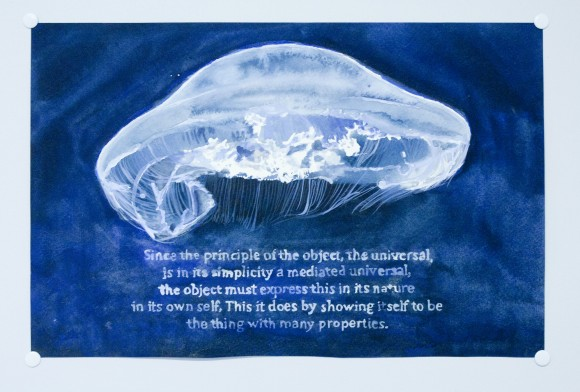 Liz Kauffman, Painting, Watercolour, Jelly Fish, Text, Artist in Residence