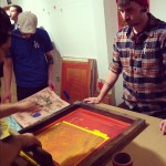 Southern Graphics Conference, 2013, Milwaukee, Silkscreen, Live Printing, Fatherless Printmaking