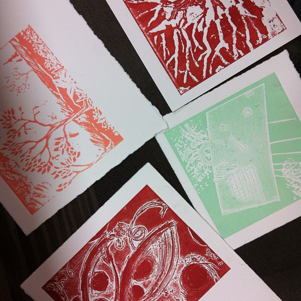 Solarplate, Printmaking, Workshop, High School, Lesson, Ink, Rollers, Paper, Relief