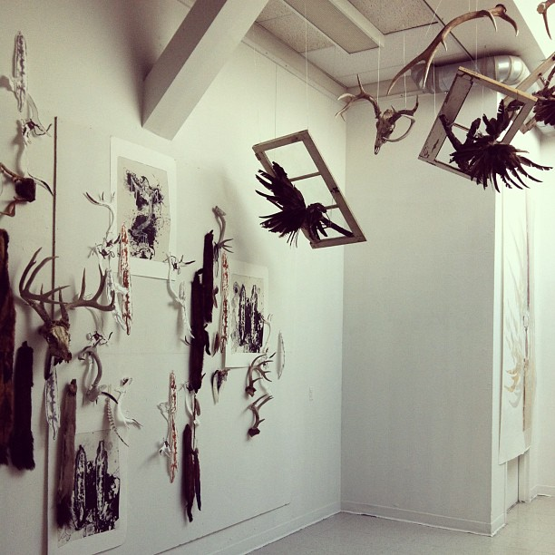 Ebonnie Hollenbeck, Queen's BFA, Exhibition, Graduating Class, Installation, Print, Found Objects
