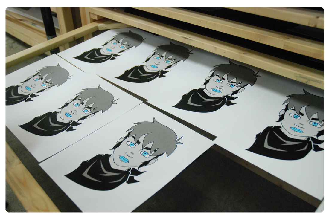 Alex Robbins, Printmaking, Silkscreen, Illustration, Artist in Residents