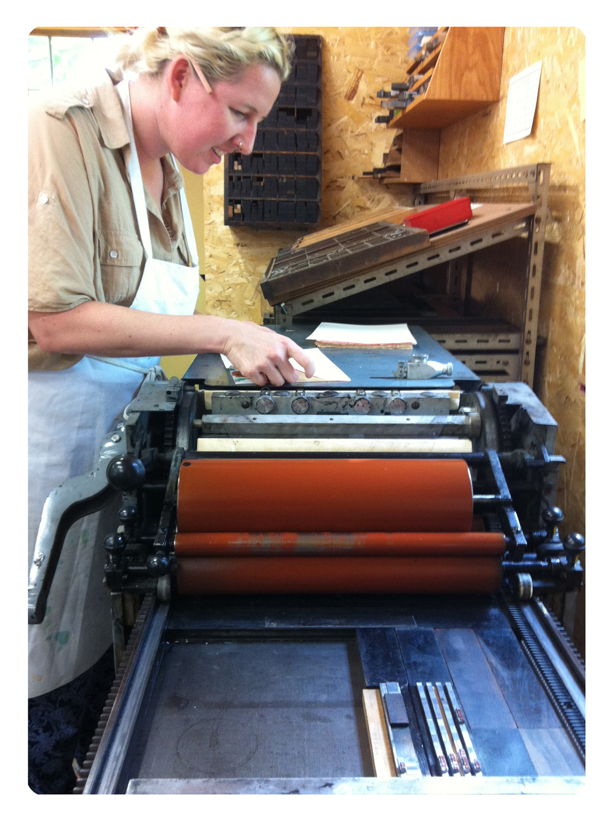 Julie Kesti, Letterpress, Book, Workshop, Printmaking, Type, Vandercook, Lesson