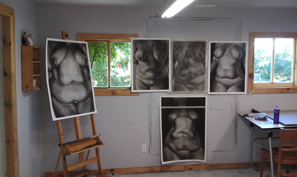 Lindsey Guile, Artist in Residents, Drawing, Figure Drawing, Life Drawing, Charcol