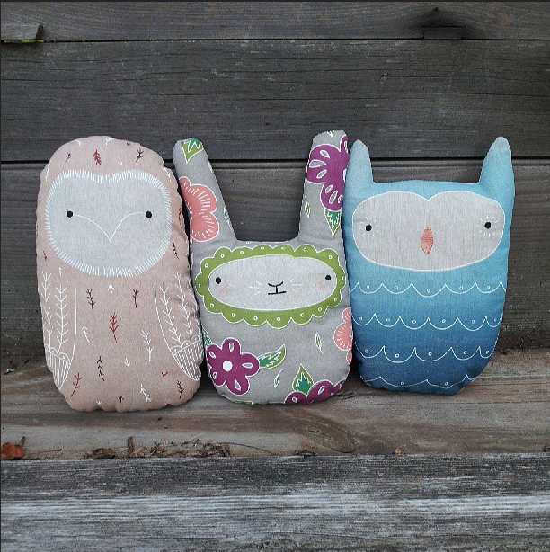Artist in Residents, Craft, Print, Silkcreen, Plush Toys, Owl, Bunny, Flowers, KIriki Press
