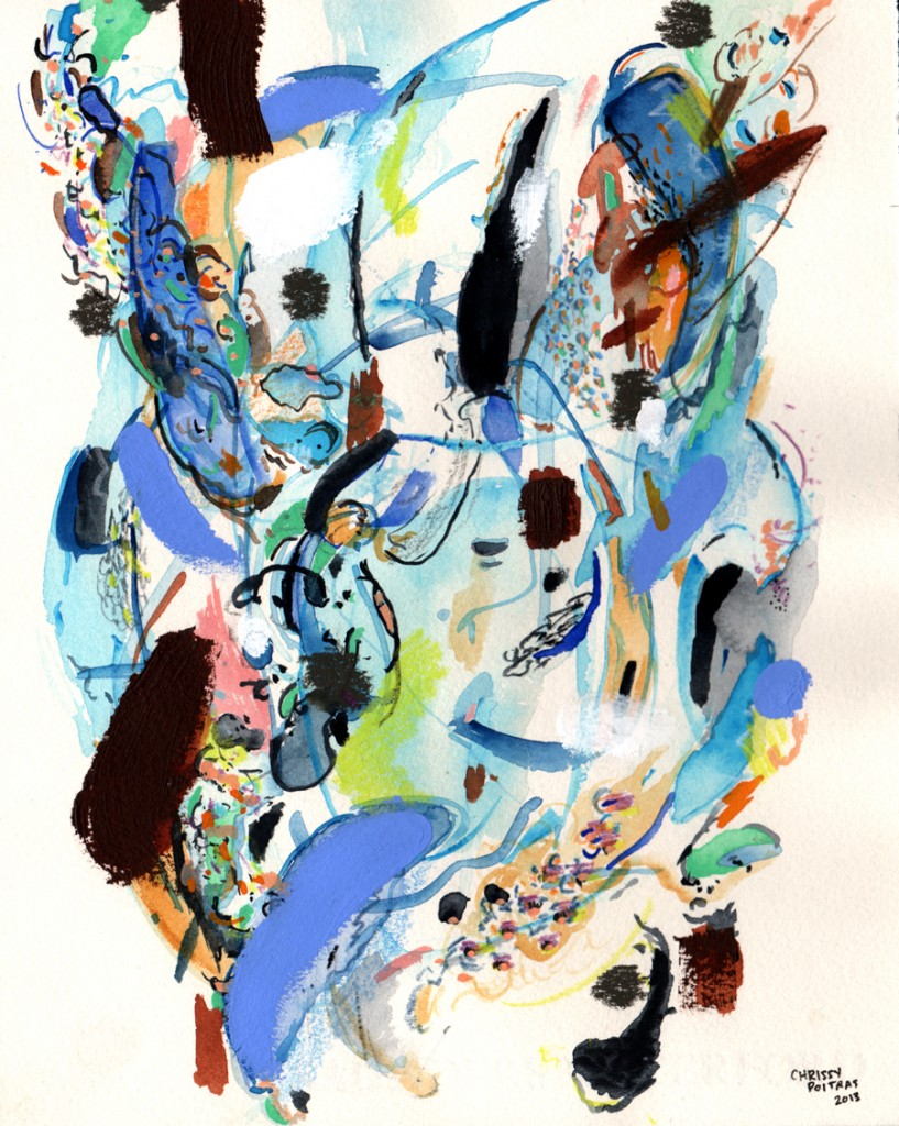 Chrissy Poitras, Painting, Watercolour, Abstract, Paper