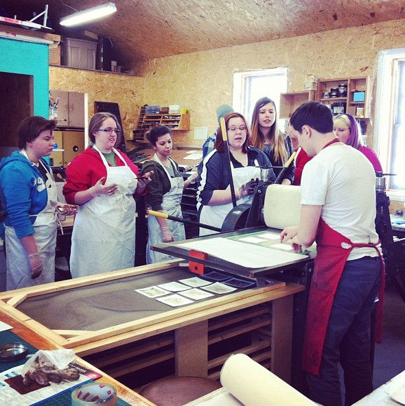 Workshop, Etching, Loyalist College, Printmaking, Students