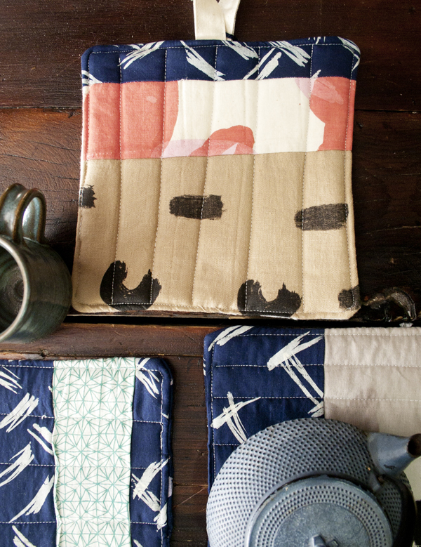 The Sunday Edition Quilted Pot Holder Spark Box Studio